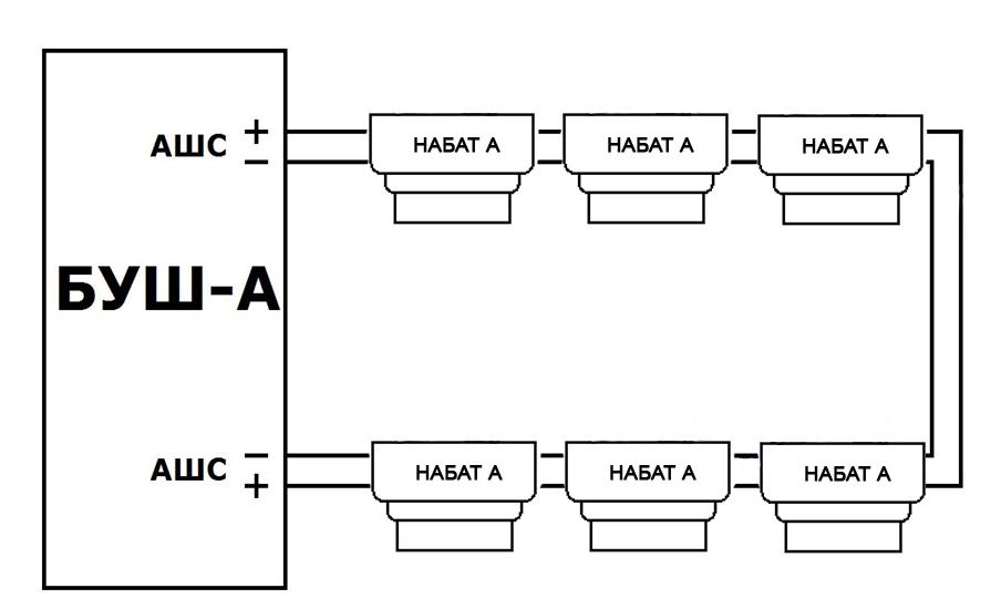 Схема включения извещателей «